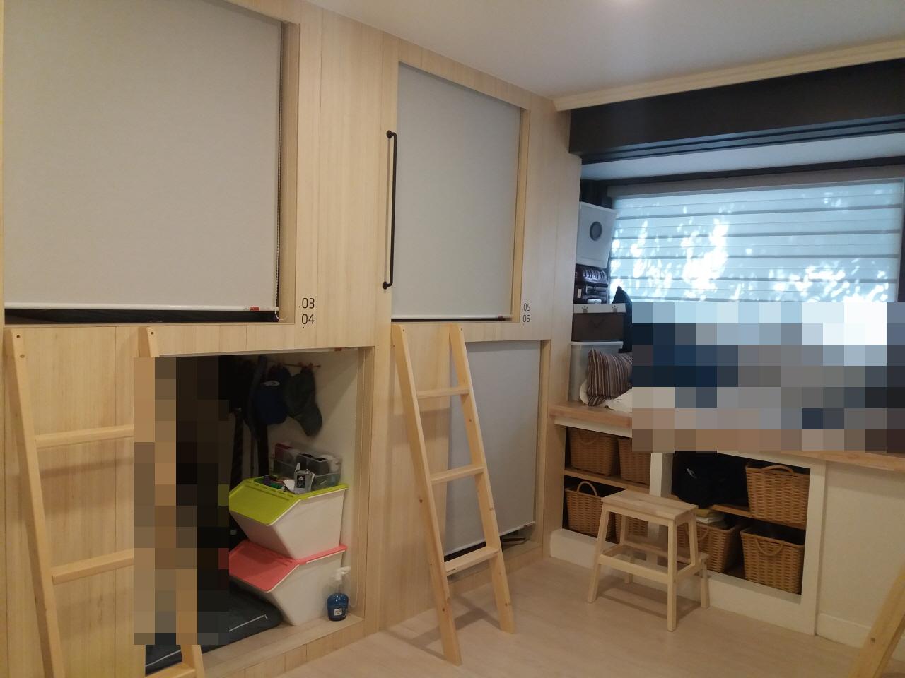 셰어하우스 8인실의 모습.
