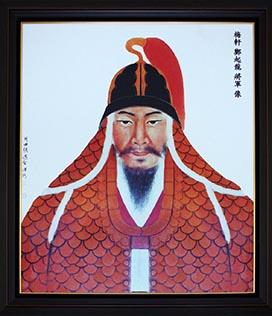 정기룡 초상 정기룡은 '뭍의 이순신'이라는 별칭을 얻을 만큼 임진왜란 당시 뛰어난 활약을 했다. 정시룡의 고향 경북 상주에는 그를 기려 세워진 충의사가 있고, 묘소, 신도비 등이 있다. 위의 초상은 충의사의 것이다.