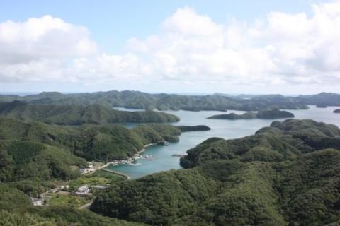 일본 쓰시마 아소만이 보이는 전망대