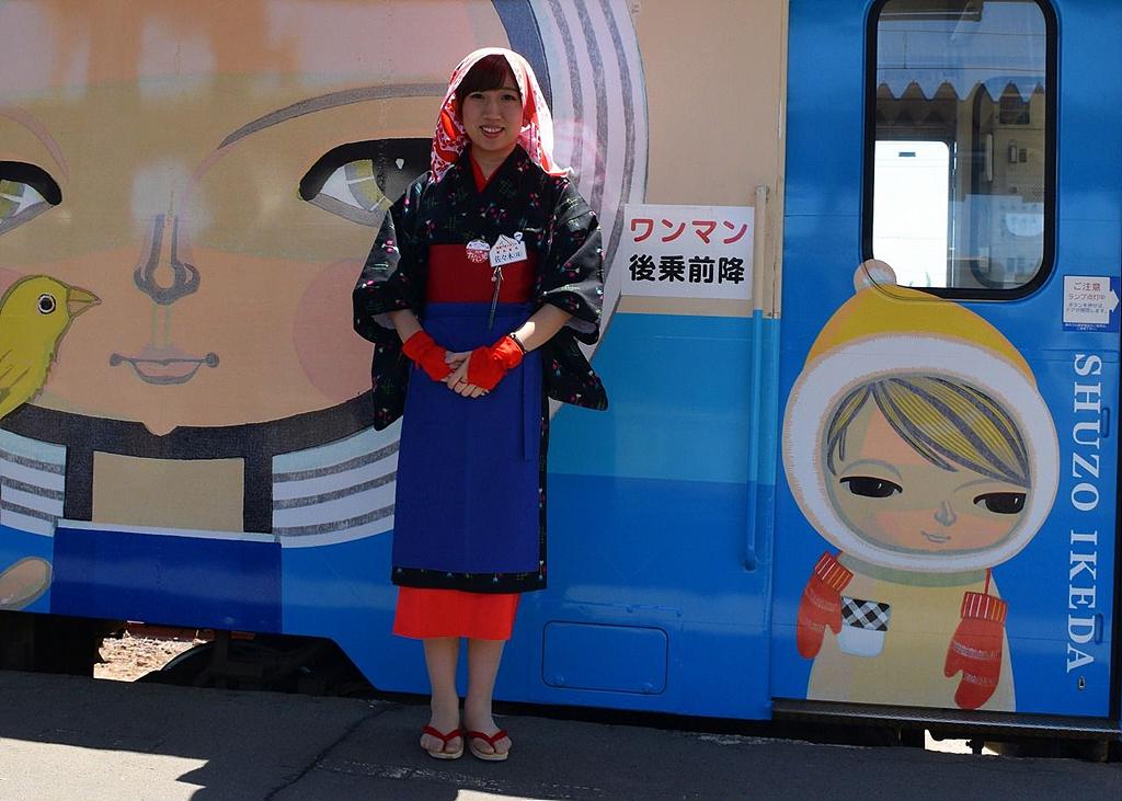마고코로열차의 어텐던트 미소가 아름다운 아키타미인의 어텐던트