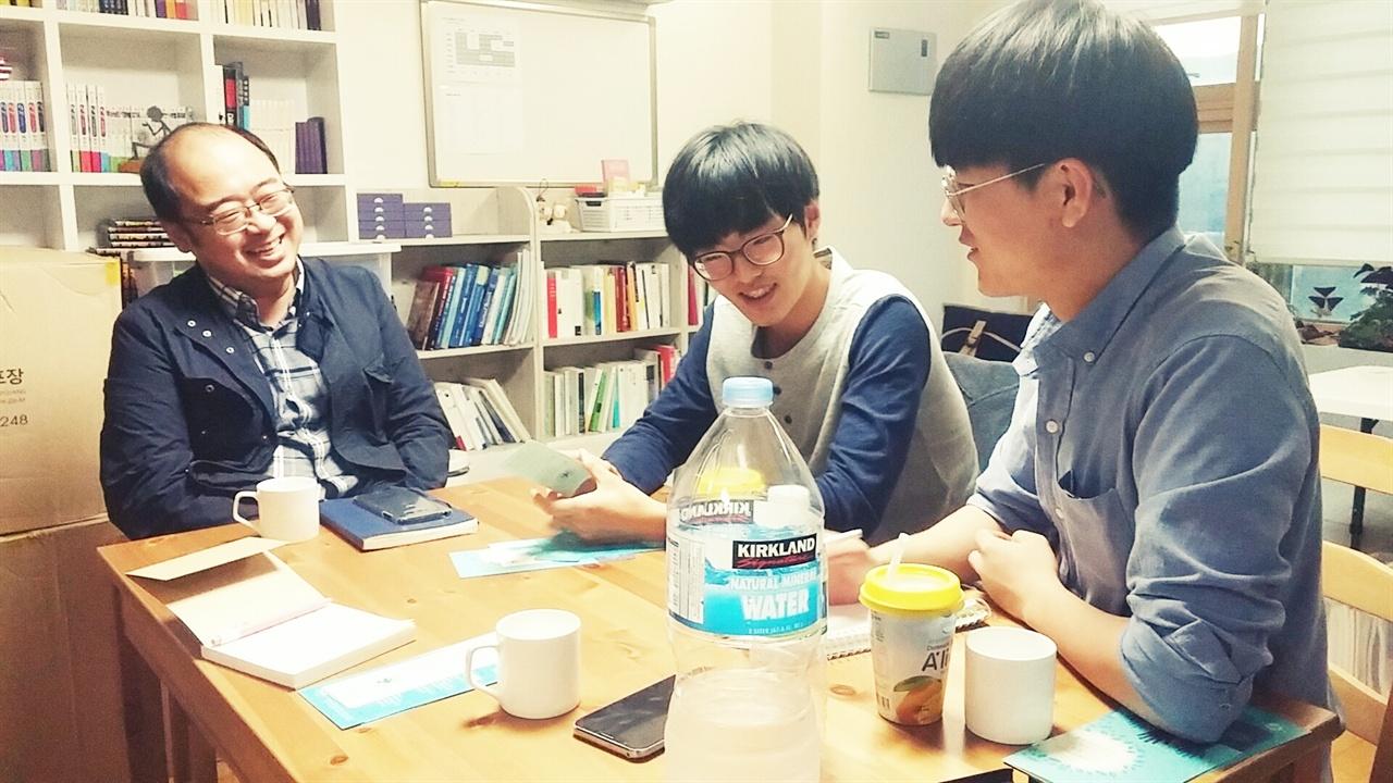 에듀피스 서대표와 인터뷰 중인 사회적경제 서포터즈