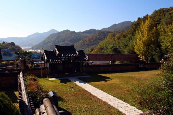 경천묘에서 바라본 마을 풍경