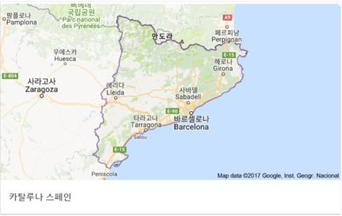 카탈루냐 일대 지도