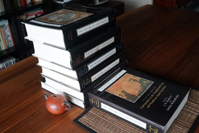 <지도학의 역사 History of Cartography>. 강리도가 표지 지도로 선정 등재됨