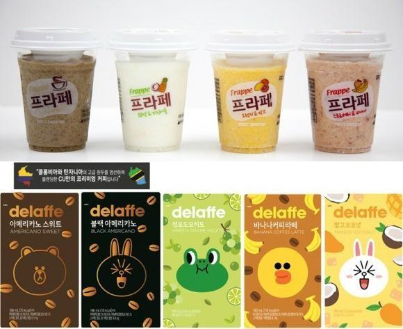 인스턴트 커피 대표적으로 CU의 '델라페' 시리즈가 있다.