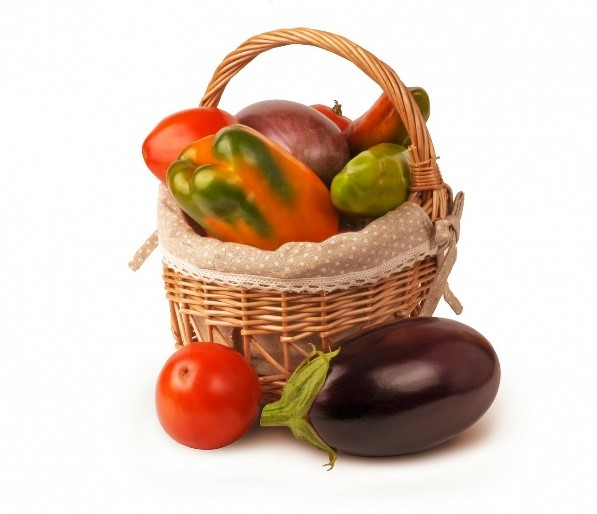다양한 모양의 농산물