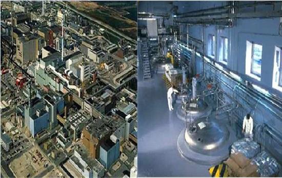 프랑스 북서부 라하그에 있는 사용후핵연료 재처리 시설. 습식재처리인 퓨렉스법을 활용한다.