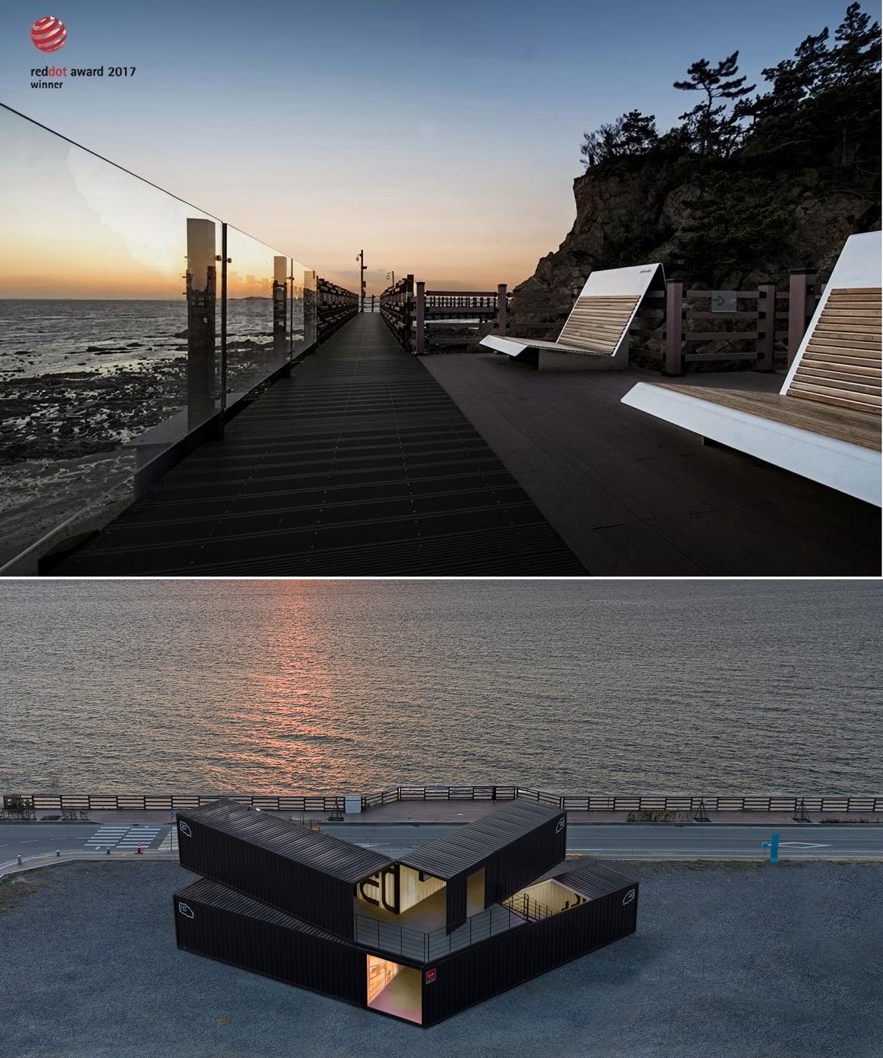 독일에서 디자인상을 받은 제부도 해안가 경관벤치와 아트파크.