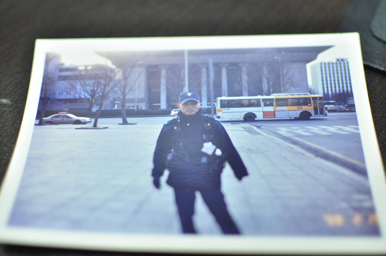 세종문화회관 앞에서 출동대기중인 모습
