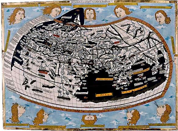 울름판 프콜레미 지도 1482년 독일 울름 판 프콜레미 세계지도