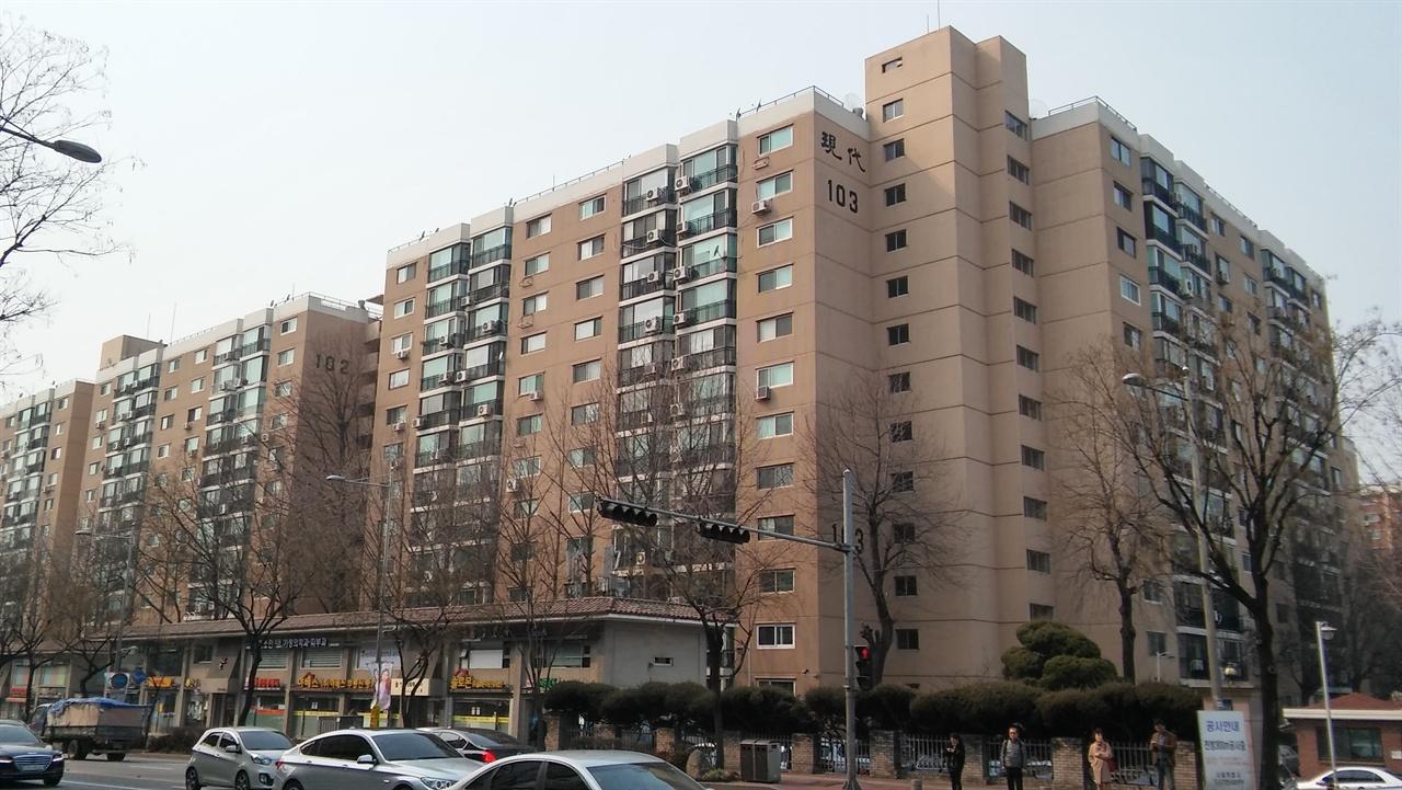 압구정동 현대아파트 1976년 입주를 시작한 압구정 현대아파트는 상류층을 겨냥한 40~60평형대 아파트가 다수였다.