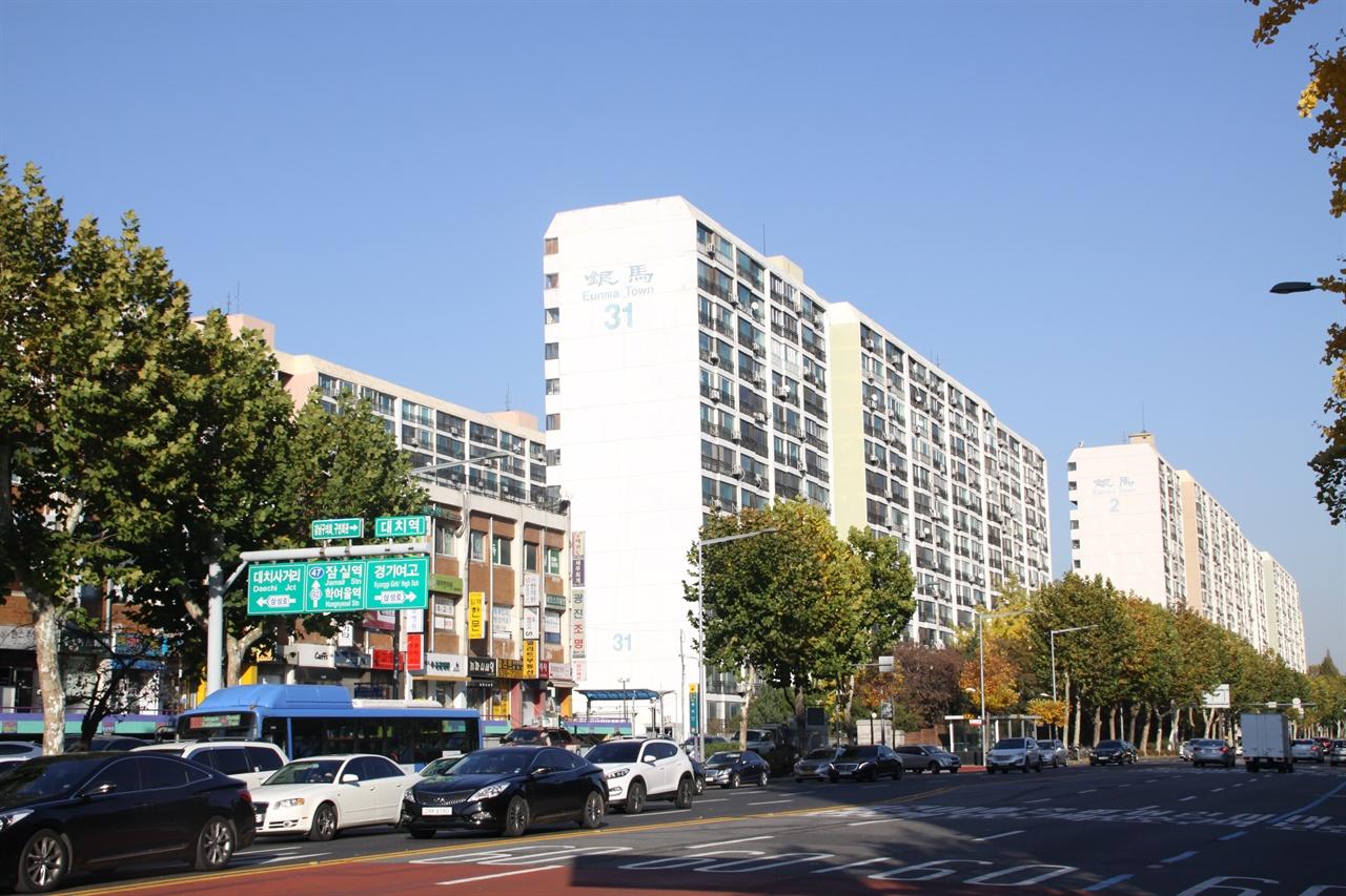 대치동 은마아파트 1979년 입주를 시작한 대치동 은마아파트는 무주택 서민을 위한 30평형대가 대부분이었다.