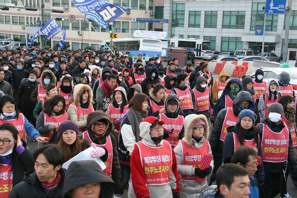 두번의 정리해고와 공장폐업에서 노동자를 지킨 것은 바로 노동조합의 힘이었다.