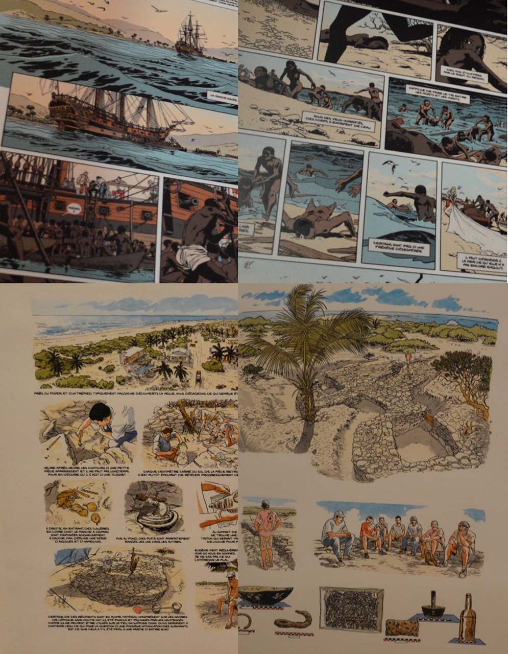 트로믈랭 섬의 역사 트로믈랭 섬의 역사를 알기 쉽게 보여주는 애니메이션이 전시되어 있다.