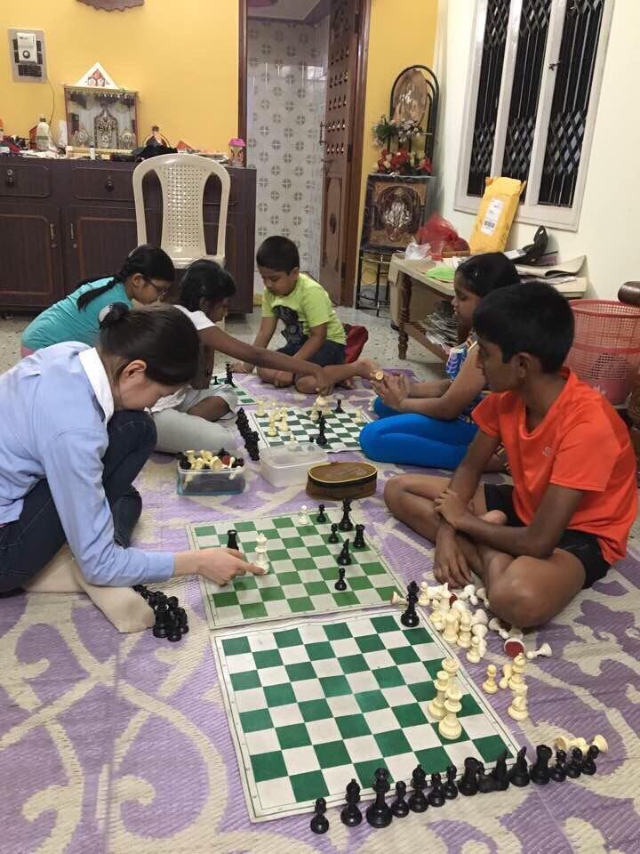 Chess School  인도의 체스 수업