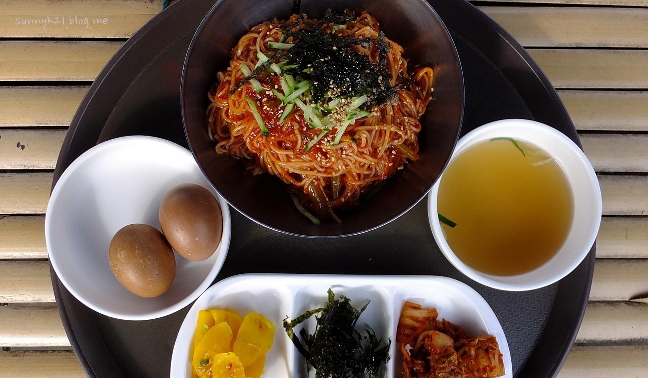 담양 국수거리의 별미 삶은 달걀.