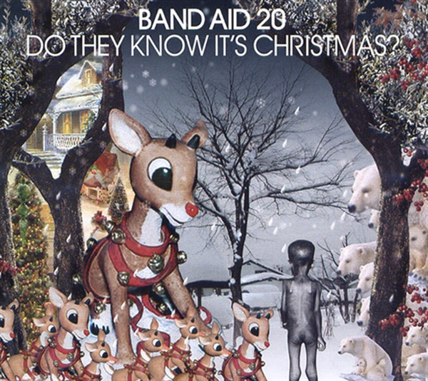 지난 2004년에 발매된 밴드 에이드 20주년 기념 싱글 음반 < Do They Know It's Christmas? > 표지.