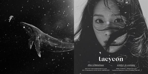 엑소의 겨울 스페셜 음반 < Sing For You >, 태연의 < This Christmas...Winter Is Coming > 표지