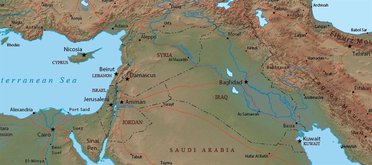 지도 예루살렘과 그 주변