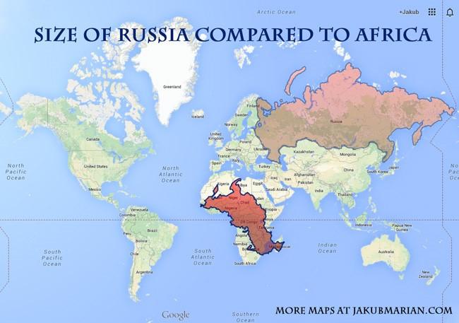 구글 어스 세계지도 러시아와 아프리카