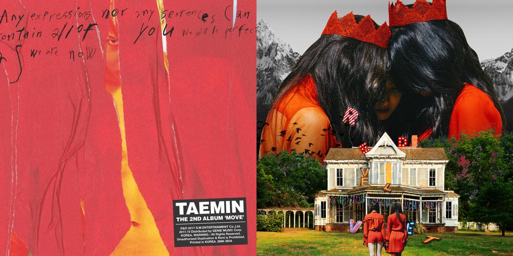 올해 전문가들로 부터 좋은 평가를 받은 태민의 솔로 2집 < Move >, 레드벨벳의 정규 2집 < Perfect Velvet >.