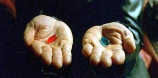 매트릭스의 빨간약과 파란약 엄마는 페미니즘이 빨간약이라는 말에 동의하고 싶지 않다.