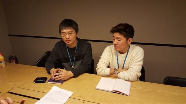 """김호성 PD는 """"망가져 가는 MBC를 폐허가 된 여의도 사옥을 통해 표현하고 싶었다""""고 말했다."""