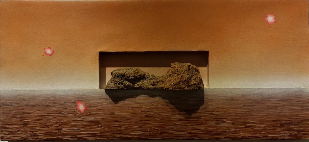 이재민.  연평도.  37X80 cm.  돌  혼합재료.