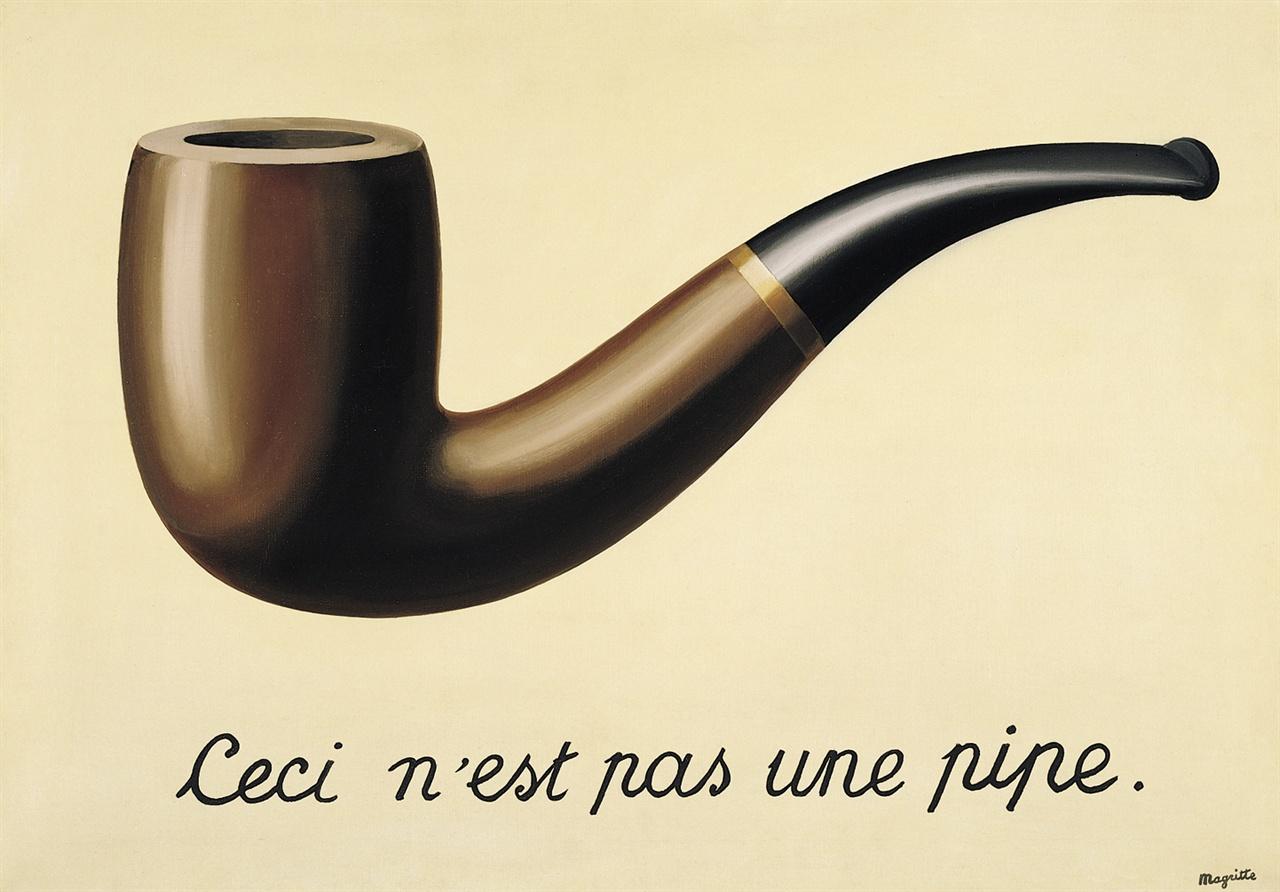 마그리트의 그림 <이것은 파이프가 아니다>