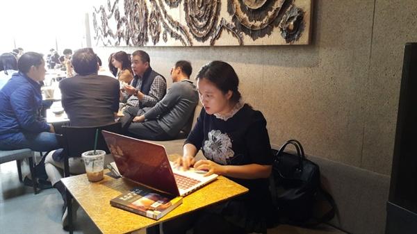 오마이뉴스 '2월22일상'을 수상한 구진영 기자