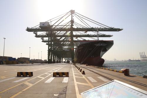 톈진신항 중국 텐진 신항 내 동장항 컨테이너터미널.