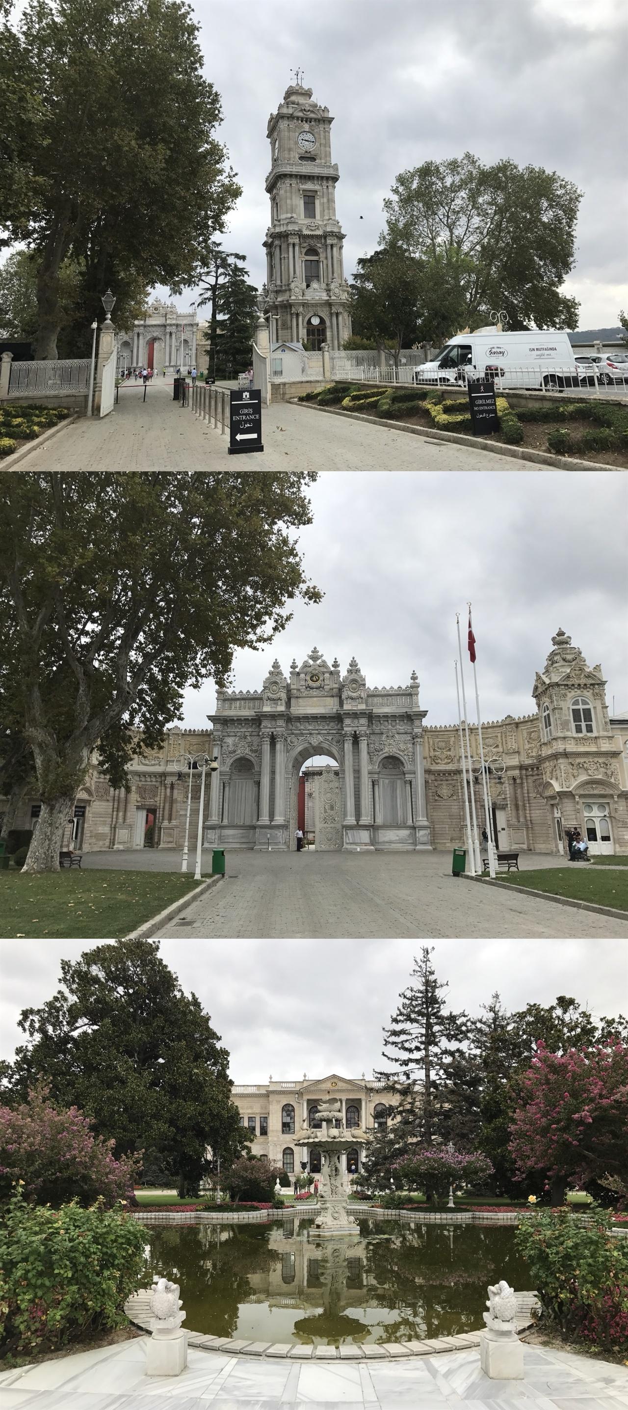 1. 돌마바흐체 궁전 앞 시계탑 2. 돌마바흐체 궁전 입구 3. 돌마바흐체 궁전 내부