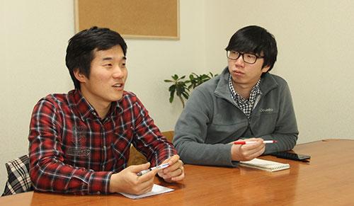 청년광장 인천지부 대표 박동선(왼쪽)씨와 콘텐츠제작팀장 유봉환씨.