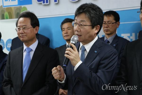 유승민 바른정당 대표가 3일 오후 바른정당 대구시당에서 열린 신년교례회에 참석해 발언을 하고 있다.