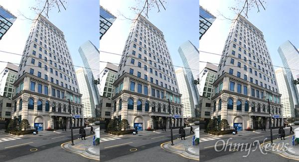 서울 지하철 2호선 삼성역 인근에 있는 슈피리얼 타워. 여기 12층에 MB의 개인 사무실이 있다.