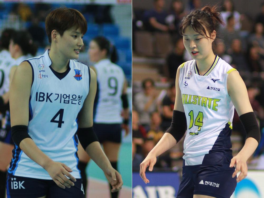 '여자배구 국가대표' 김희진(185cm)-양효진(190cm) 선수