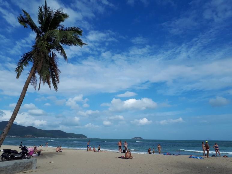 베트남 나짱(나트랑)의 바닷가 풍경.