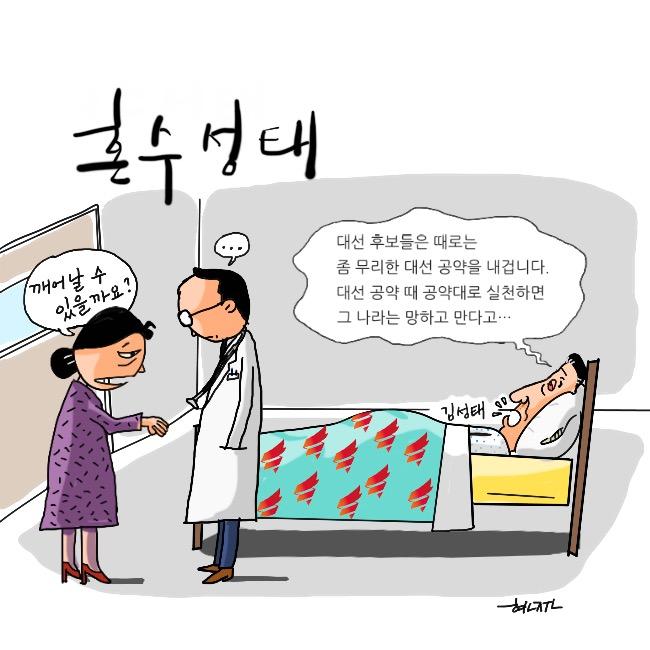 [고현준만평]  혼수성태