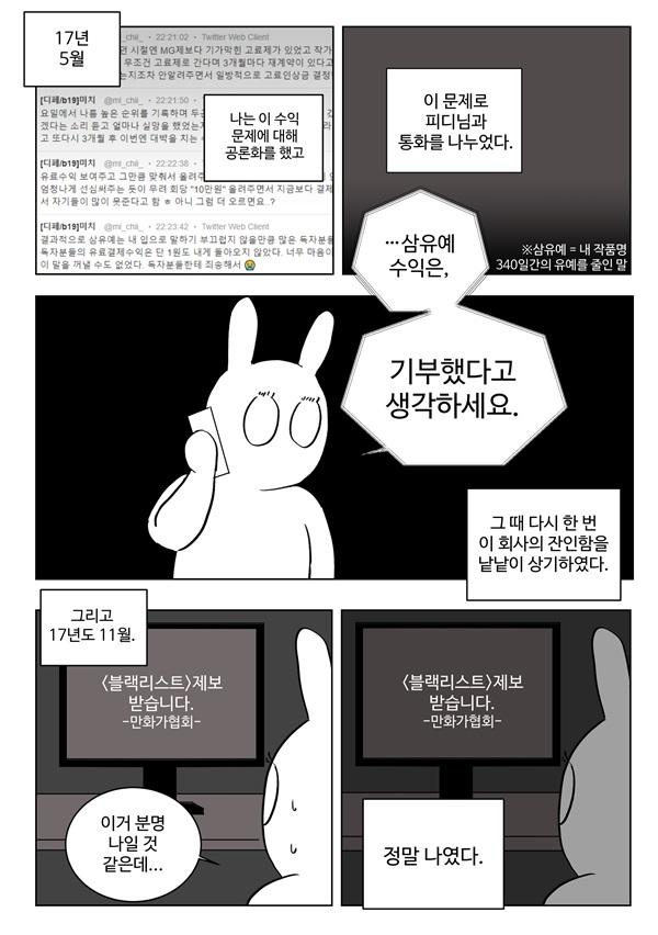 미치 작가의 레진코믹스 투쟁기2
