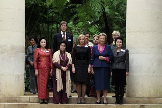 지난 2010년 벨기에를 방문한 이명박 전 대통령의 부인 김윤옥씨.