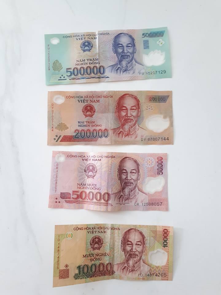 베트남 돈에는 모두 '호치민'의 얼굴이 있다.