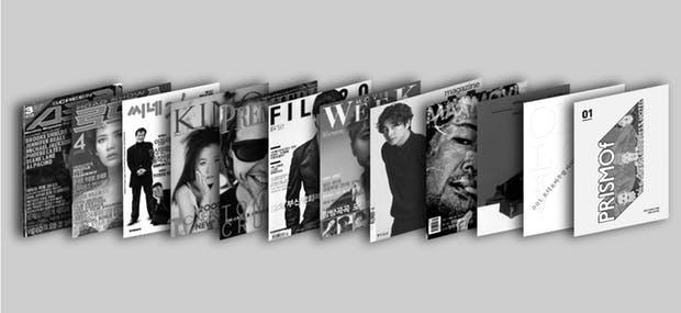 <FILO>가 텀블벅 페이지에서 소개한 한국의 영화잡지들.