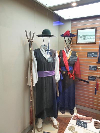 조선시대 무기들. 서울시 종로구 신문로2가의 경찰박물관에서 찍은 사진.