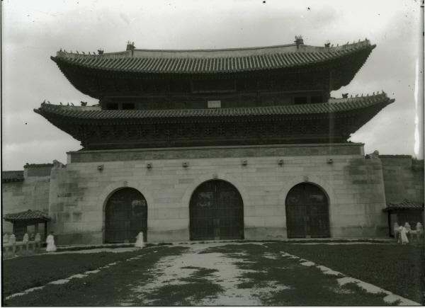 광화문 전경  동경대 소장 유리원판, 1902년 경