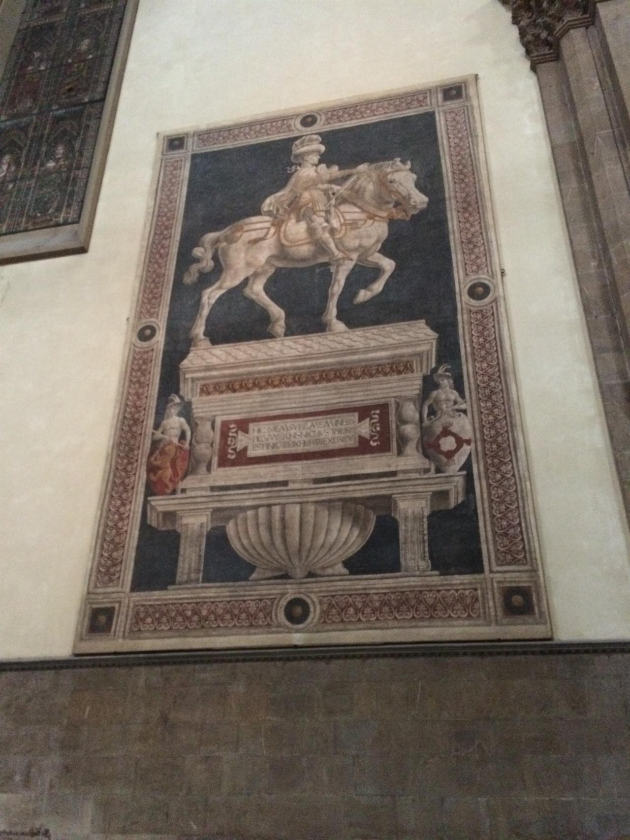 니콜로 다 토렌티노의 기마상 카스타뇨(Andrea del Castagno), 1456년, 피렌체 대성당
