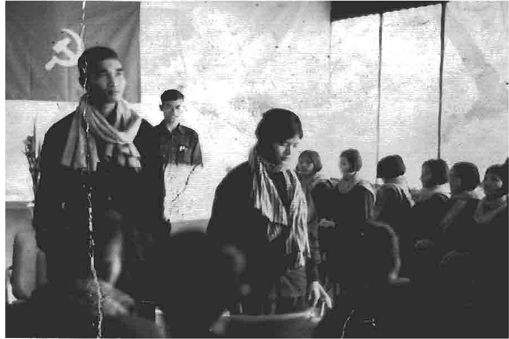 과거 1970년대 크메르루즈정권에 의해 자행된 강제결혼식 모습을 담은 사진자료. (사진 자료 제공 : Documentation center of Cambodia)