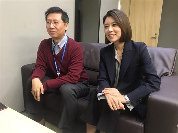 (왼쪽부터) 박성호, 손정은 앵커의 모습.