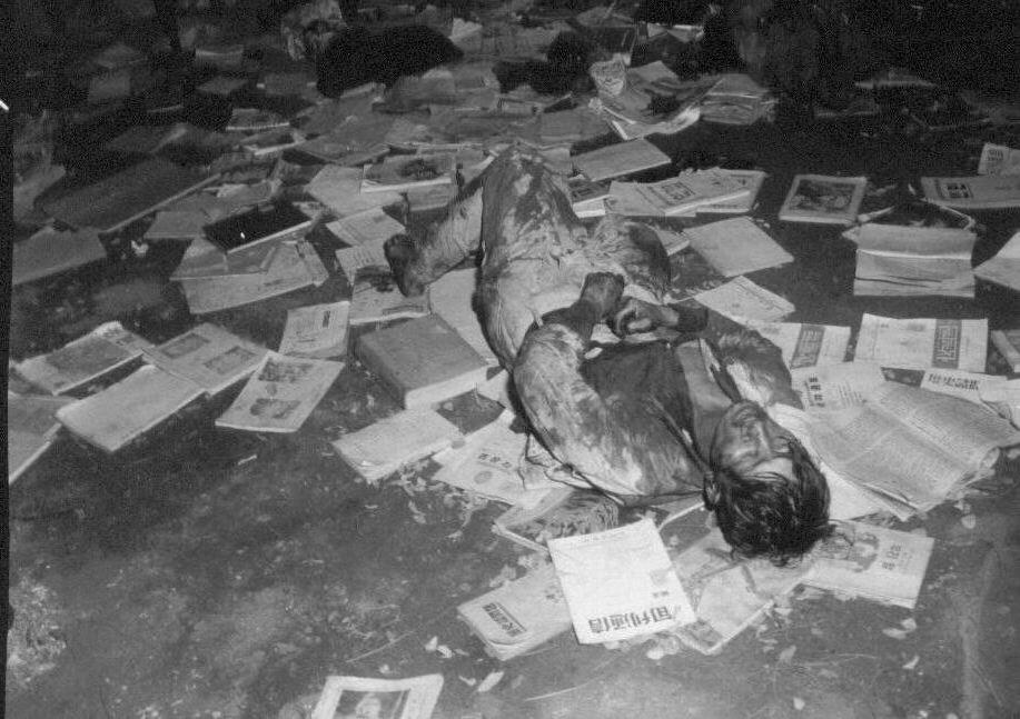 1950. 10. 24. 진남포, 한 남정네의 시신.