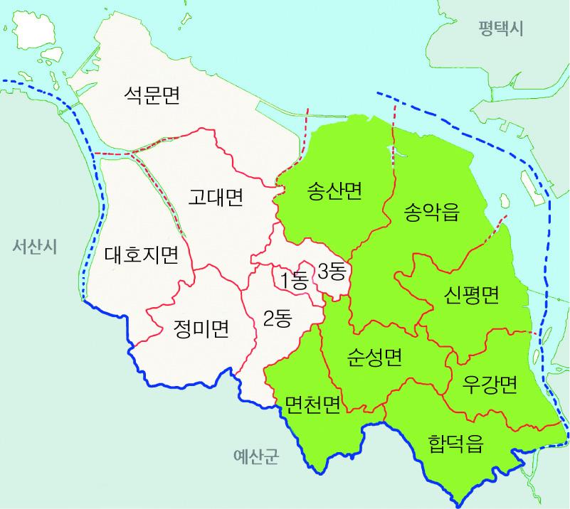 송산이 2선거구로 이전하는 방안 제작 당진신문