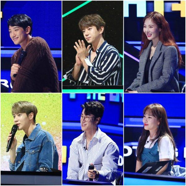 KBS < 더 유닛 >의 멘토 역할을 담당한 선배 가수들.  방영 초기 이후 현아는 별다른 설명없이 이 프로그램에서 모습을 볼 수 없었다.